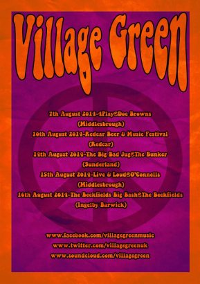 Village Green announce August dates