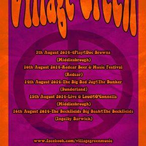 Village Green announce Augustdates